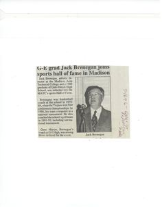 Jack Brenegan inducted into Madison College Hall of Fame