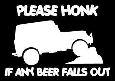 Beer Funny Vinyl Decal 4x4 4wd Mud Off Road Sticker fits Jeep yj cj tj wrangler in Mouldings & Trim | eBay
