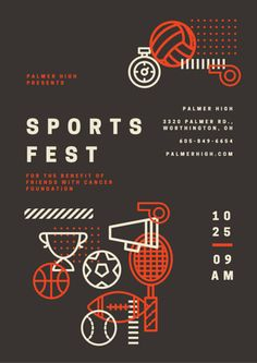 Sports Fest Charity Event Poster