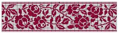 Border 60 | Free chart for cross-stitch, filet crochet | Chart for pattern - Gráfico