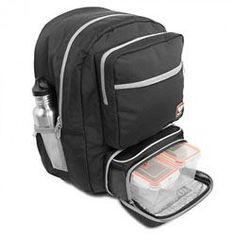 Fitmark Transporter Backpack Meal Prep Bag, Black Backpack, Gym Backpack,  Reusable Ice Packs a77389004e