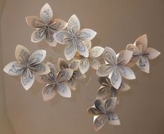 Musically Gifted Flower Mobile Upcycled. $42.00, via Etsy.
