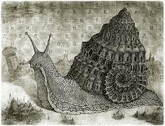 Snail by Valentin Sandulyak