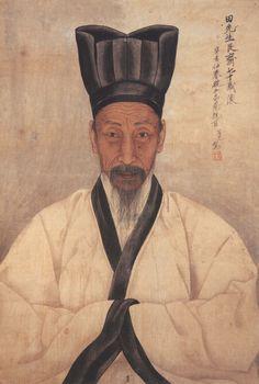 전우 초상화, 채용신, <전우(田愚) 초상>, 1911, 종이에 채색