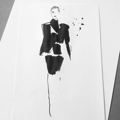 """""""Did you see the show of @calvinklein yesterday? It makes me want to #draw everything. #fashionillustration #fashion #illustration #throwback #calvinklein…"""""""