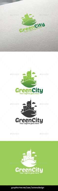 Green City Logo — Vector EPS #brand #trip • Available here → https://graphicriver.net/item/green-city-logo/10008024?ref=pxcr