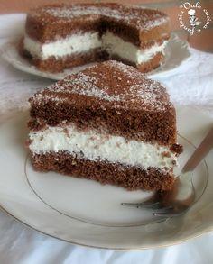 Torta fredda con crema al cocco e nesquik