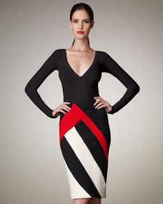 Striped Pencil Skirt by Donna Karan at Bergdorf Goodman.