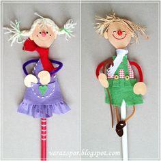 Varázspor: Fakanál bábok - Boszorkány, wooden spoon puppet
