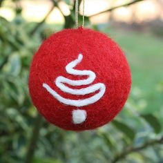 Needle Felted Christmas Ornament