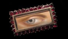 Georgian Eye Brooch
