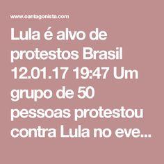 """Lula é alvo de protestos  Brasil 12.01.17 19:47 Um grupo de 50 pessoas protestou contra Lula no evento da Confederação Nacional dos Trabalhadores em Educação (CNTE), em Brasília. Aos gritos de """"Fora Temer, Fora Todos"""" e """"Lula não nos representa"""", militantes ligados à Central Sindical e Popular-Conlutas (CSP) e ao PSTU viraram as costas quando o ex-presidente começou a falar. As informação são do Estadão.  """"Esse congresso age de forma antidemocrática ao convidar um ex-presidente que não…"""