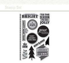 @studio_calico Stamp Set: Holiday Hello by Kelly Purkey