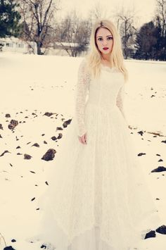 Winter Wedding Dress worn by AnnaSophia Robb