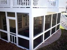 Image result for walk out basement under deck