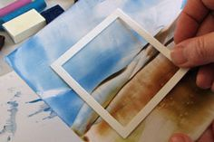 Encaustic by Birgit Edblom.  Use wax blocks and a hot iron to create beautiful backgrounds.