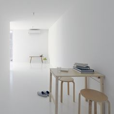 none of the elongated rooms inside this curvy apartment block in Osaka are more than two metres wide. / Apartment by SpaceSpace