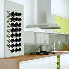 Wall-Wine rack VisioRack® made of metal, for horizontal storage