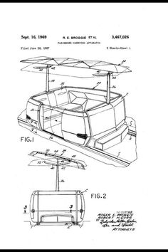 Peoplemover Patent by Roger Broggie and Bob Gurr