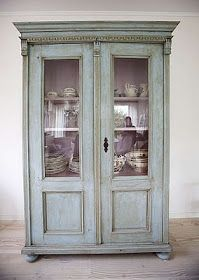 """Painted cabinet inspiration: """"This style is so versatile & adaptable as a bookcase, china cabinet, linen press, media cabinet, etc. Paint Furniture, Furniture Projects, Furniture Makeover, Home Furniture, Painting Antique Furniture, Furniture Design, Furniture Plans, Cabinet Inspiration, Furniture Inspiration"""
