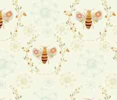 Queen Bee fabric by artthatmoves on Spoonflower - custom fabric