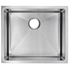 Water Creation Undermount Small Radius Stainless Steel 23x20x10 0-Hole Single Bowl Kitchen Sink in Satin Finish-SS-US-2320B at The Home Depo...