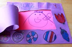 Make Your Own Contact Paper Stickers with Kids