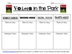 Graphic Organizer for 5th Grade Point of View - CCSS ELA-Literacy.RL.5.6…