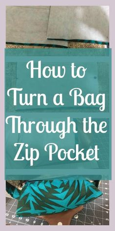 This post may contain affiliate links. In this tutorial youll learn how to turn any bag through the zipper from the interior pocket. If your bag pattern does not include an interior pocket you can create one and turn your Read Handbag Patterns, Bag Patterns To Sew, Sewing Patterns, Tote Pattern, Crochet Patterns, Handmade Purses, Handmade Handbags, Handmade Fabric Bags, Handmade Bracelets
