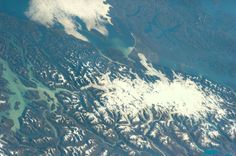 Northern Patagonia Ice Field, Chile, on the border with Argentina. Picture: Astronaut Rick Mastracchio.