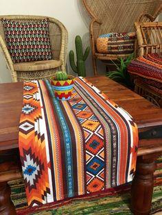Southwest Decor, Southwestern Style, Native American Decor, Bohemian Interior Design, Western Homes, Decoration, Table Runners, Upholstery, Free Spirit