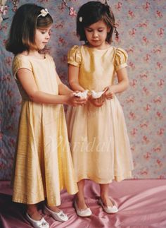 Flower Girl Dresses - $104.79 - A-Line/Princess Scoop Neck Ankle-Length Taffeta Flower Girl Dress With Ruffle (01005009292)