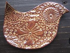 Brown Bird Spoon Rest  Soap Dish  Jewelry by ShoeHouseStudio, $10.00