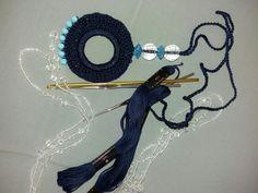 Crochet necklace diy