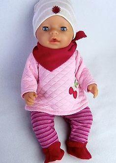 B Chou Chou  Jaco-o Krümel  3tlg Eule Puppenkleidung z Baby Born 43 cm