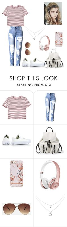 """""""BASIC😘"""" by theycallmemandy ❤ liked on Polyvore featuring Converse, Steve Madden and Ashley Stewart"""