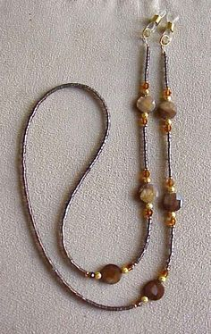 Shimmering Brown Tigereye Tortoise Shell Crystal Eyeglass Chain Holder Shimmering Brown Crystal Eyeglass Chain Holder by on Etsy,. Beaded Jewelry, Beaded Necklace, Beaded Bracelets, Diy Jewelry, Bijoux Diy, Schmuck Design, Jewelry Patterns, Eyeglass Holder, Eyeglasses