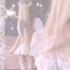 The shy girl and the devil Baby Pink Aesthetic, Angel Aesthetic, Princess Aesthetic, Aesthetic Themes, White Aesthetic, Aesthetic Girl, Aesthetic Clothes, Kpop Aesthetic, Grunge Style