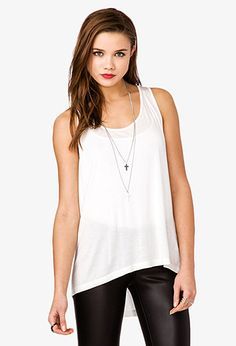 Forever 21 racetrack high low tank top. $6