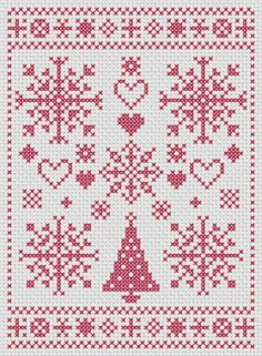 Christmas cross stitch pattern modern Christmas by MKDesignArt, £1.50