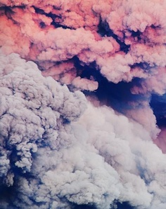 Pastel clouds of smoke