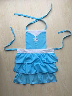 SALE 20% OFF - Frozen Princess queen Elsa snowflake ruffles children's kids apron costume
