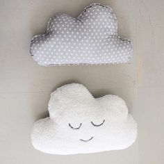 Nursery cloud pillows L O V E >>> snag one for your little one through the link in bio