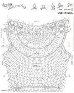 Enganchado en ganchillo: Tejer la Parte Superior / Blusa de crochet (saida de…