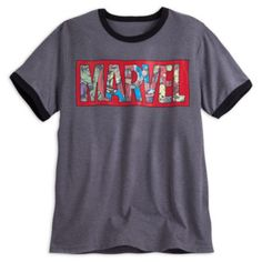 Get set to save the day with this cool Marvel logo T-shirt. Featuring bold…