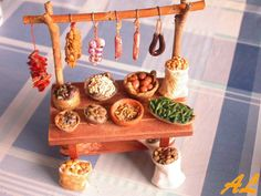 Tiny Furniture, Unique Furniture, Mexican Christmas, Christmas Time, Fontanini Nativity, Basket Tray, Ceramic Houses, Fairy Garden Accessories, Mini Things