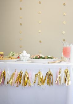 Elle Apparel- gold pink baby shower- CUTE