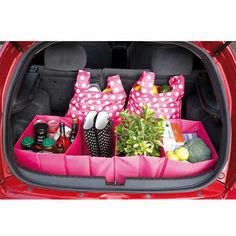 Loving the idea of baskets in trunk to put everything in