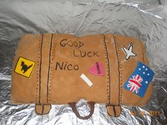 a suitcase for the trip to Australia for my brother