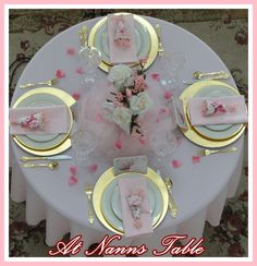 Nanns Table: February 2012 - Valentine February luncheon tablescape